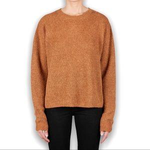 Acne Studios Ijona Ribbed Linen Alpaca Blend Knit